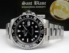 ROLEX - Stainless GMT Master II Black CERAMIC w/ Rolex Books 116710 - SANT BLANC
