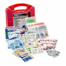 Case of (4) 50-Person First Aid Kits – Red Plastic Kits