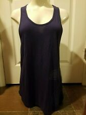 Zumba Wear Loose Fitting Racerback Tank Starry Sky PURPLE Womens Top Size LARGE