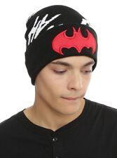 DC Comics Batman Hat Red Logo Joker Hahaha Beanie Knit Hat Ski Cap