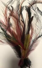 Dyed Mixed Colours Emu Feathers - 25 feathers - extra long 18 - 27cm