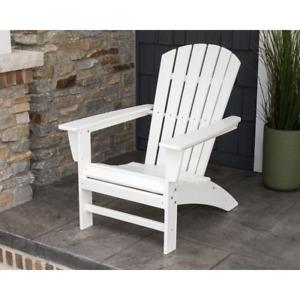 Plastic Adirondack Chair Patio White Outdoor Chairs Waterproof Garden Terrace