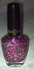 Milani Nail Polish * 583 HOT PINK * Clear Base w/ Holographic/Pink Hex Glitters