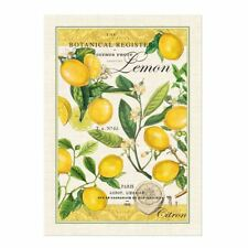 Michel Design Works Cotton Kitchen Tea Towel Lemon Basil - NEW