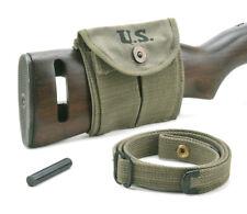 Usgi Ww2 .30 M1 Carbine Sling, Oiler, & Buttstock Pouch Od Green Dated 1944
