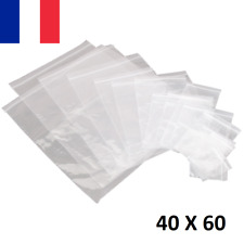100X Sachet Zip Plastique 40x60mm 4x6cm Transparent Pochon Pochette 50u