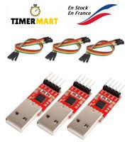 Convertisseur USB vers TTL CP2102 HW-598 pour 3,3 V et 5 V avec câble Arduino