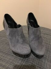 Nine West Gray Suede Platform Booties Size 8.5