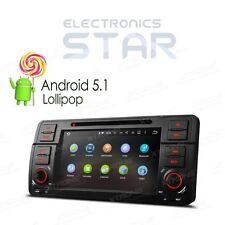 "BMW E46 M3 Stereo 7"" Android 5.1 GPS Sat-Nav Car DVD Player Radio DAB+ WiFi OBD2"