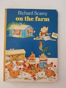 Board Book - Richard Scarry On The Farm Collins 1979
