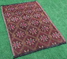 Turkish Kilim Rug 37''x53'&# 039; Hand Woven Konya Cicim Kilim 96x135cm Area Rug