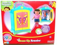 Fisher Price Dora The Explorer Dress Up Armoire New Doll Hangers Nightgown NEW