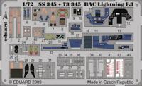 Eduard 1:72  BAC Lightning F.3 S.A. Color PE Detail Set For TRUMPETER #SS345
