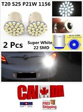 2x 1156 BA15S White LED 22SMD 5630 Car Reverse Backup Turn Signal Lights DRL