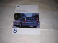 BMW 5 Series 1999 Car BROCHURE  1997