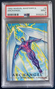 1992 Marvel Masterpieces #8  PSA 9 - ARCHANGEL !!!    HOT SET & FREE SHIPPING