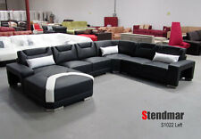 Modern Euro style leather sectional sofa set S1022