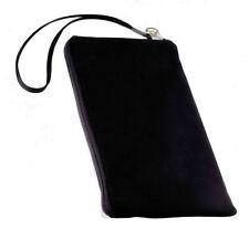 Movil bolsa Universal cover case funda estuche cremallera en negro selección 9