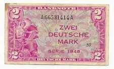 Germany Federal Republic 2 Deutsche Mark 1948 VF #234a