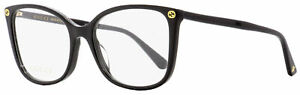 Gucci Butterfly Eyeglasses GG0026O 001 Black 53mm 0026