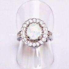 Markenlose Echte Edelstein-Ringe mit Opal und Cabochon für Damen
