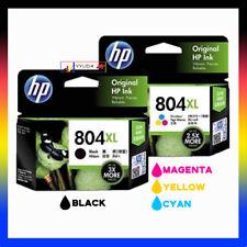2x HP Original 804XL BLACK+COLOR Combo Ink Set for Envy 6220/6222/7120/7820/7822