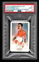 1979 VENORLANDUS MUHAMMAD ALI Boxing Champion Card GRADED PSA 9 MINT