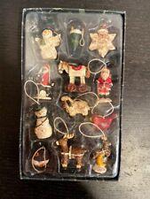 Kurt S Adler's Boxed Mini Holiday Ornaments 12pcs Santa christmas themed