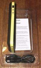IPHONE 5 RECHARGEABLE EXTERNAL BATTERY CASE W/USB CHARGER CORD~ 2500 mAh ~YELLOW