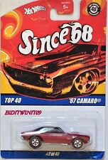 HOT WHEELS SINCE 68 TOP 40 '67 CAMARO #2/40 RED