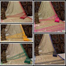 Jute silk Bollywood Sari Women's Special Wear Indian Wear Designer Sari I 13