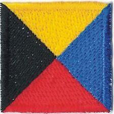 """1 1/4"""" International Maritime Nautical Signal Flag Letter Z Zulu Patch"""