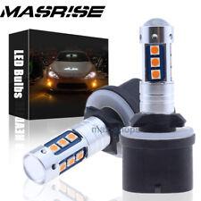 2Pcs 880 899 1600LM Amber High Power 3030 SMD LED Fog Light Driving Bulbs Lamp