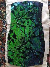 BNWOT SEXY-SPARKLY BLUE-GREEN GORGEOUS TUBE DRESS BEBE SZ XS