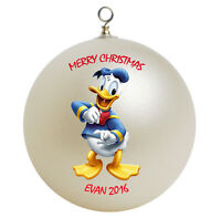 Personalized Custom Donald Duck Christmas Ornament Gift Add Childs Name