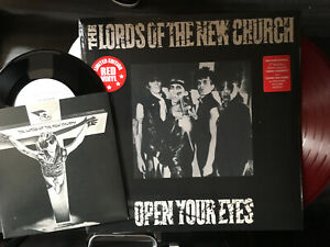 The Lords of the New Church - Open Your Eyes Red Vinyl Lp with Bonus 7 Inch Stiv