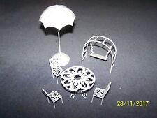 METAL SET MOBILI DA GIARDINO Fata ~ S&S Enterprises Ltd ~ Swing, Ombrello, sedie, tavolo