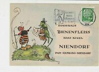 Germany 1958 Innkeepers fair Cancel Bee & insect scene Stamps Card ref R 16309