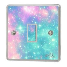 Girls Pink & Blue Light Switch Sticker Vinyl/Graphics/Decal/Skin Cover sw21