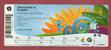Orig.Ticket    WM BRASILIEN 2014   SCHWEIZ - ECUADOR  //  Spiel 9  !!  SELTEN