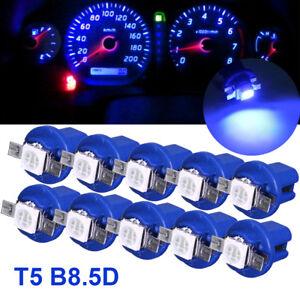 Set of 10pcs T5 B8.5D 5050 1SMD LED Dashboard Dash Gauge Instrument Light Bulbs