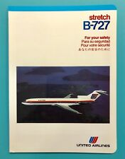VINTAGE UNITED AIRLINES SAFETY CARD--727 STRETCH—1983