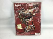 "Janlynn Christmas Cross Stitch Kit 125-223 Santa's Toy Bag Stocking 18"" Length"