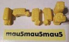 """6 /Lot 1991 Collectible Scholastic Rare Magic School Bus Yellow Car Eraser 1.5"""""""
