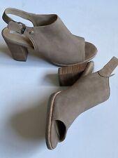 GEOX Ladies BEIGE  Soft Leather SUEDE Mules Uk Sz 6 EU 39