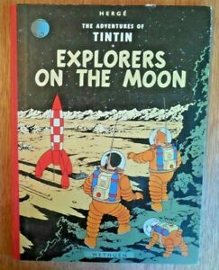 """2nd Edition 1965 HERGE The Adventures of Tintin """"Explorers on The Moon"""" HC Book"""