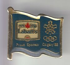 RARE PINS PIN'S .. OLYMPIQUE OLYMPIC JEUX 1988 LABATT'S BIERE CALGARY CANADA ~17