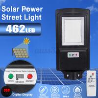 462 LED Solar Street Light PIR Motion Sensor Solar Panel Wall Lamp Garden Remote