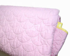 Pottery Barn Kids Multi Colors Pink Yellow Stitched Reversible Cotton Twin Quilt