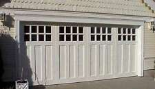 Aspen Design - [9' x 7'] Craftsman Solid Paint Grade Wood Garage Door w/Windows